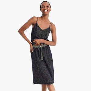J.Crew X Demylee Lurex Metallic thread cashmere